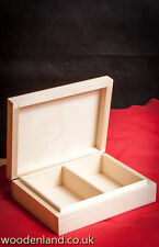 UNPAINTED NEW WOODEN BOX FOR 2 SETS OF PLAYING CARDS / ART CRAFT DECOUPAGE