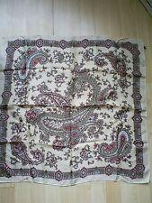 Paisley 100% Silk Vintage Scarves & Shawls