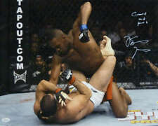 Jon Bones Jones Autographed UFC 16x20 Photo Ground & Pound JSA 11887
