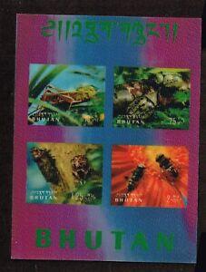 BHUTAN - 1969 Insects  minisheet 3D    -  no.2219