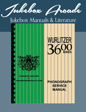 NEW! Wurlitzer 3600 Service, Parts & Troubleshooting Manual from Jukebox Arcade