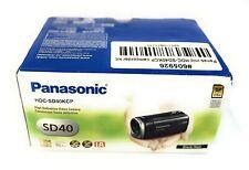 New Panasonic HDC-SD40 High Definition Camcorder Kit (Black) 1080p Free Shipping