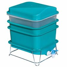 4-Tray Worm Factory Farm Compost Small Compact Gardening Soil Bin Set