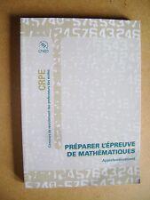 Concours CRPE  préparer l'épreuve de mathématiques volume 2  /B20