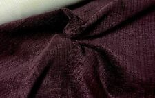 Charlotte Chenille Stripe Aubergine Curtain//Craft Fabric