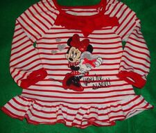 Disney/Baby~girl's~M innie/Mouse/Sequined/You&# 039;Re/Sweet/Embroidered/T op!(6/9Mo) @