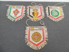 Vintage Lot 4 Fanions Qualifiés Football Euro 84 Allemagne Belgique Portugal ...
