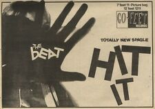 21/11/81PGN40 ADVERT: THE BEAT TOTALLY NEW SINGLE HIT IT 7X11