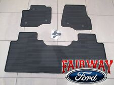 17 thru 19 Super Duty OEM Ford Rubber Mat Set 3-pc EXTENDED/CREW for VINYL FLOOR