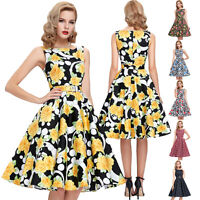 Retro 50's Swing Vintage Pin Up PARTY PROM Cocktail Evening TEA Dress