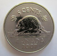 2007 CANADA 5 CENTS SPECIMEN NICKEL COIN