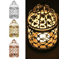 Hollow Out Bird Cage Hanging Candle Holder Candlestick Lantern Wedding Decor
