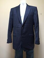 ERMENEGILDO ZEGNA Trofeo Wool Blue Striped Blazer Sport Coat Jacket Sz 44/54L EU