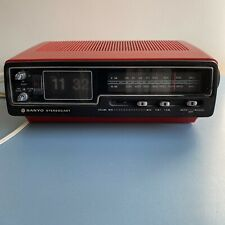 More details for vintage sanyo stereocast clock radio