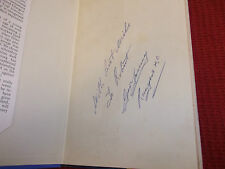Book. Football Captain of Scotland George Young Signed x 5 Liddell Flavell Cowan