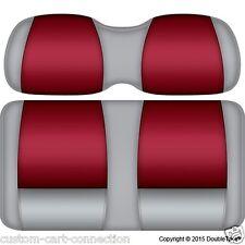 Golf Cart Seats-Front Cushions GRAY & CRIMSON ALABAMA Club Car, E-Z-GO, Yamaha