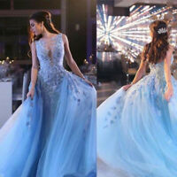 New Women Lace Tulle Formal Gown Party Dress Evening Pageant Ball Prom Custom