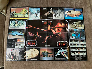 Rare Star Wars Collectible Poster Of Return Of The Jedi Toys. 1983.