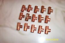 """Copper Tee 1/2"""" Lot of 15"""