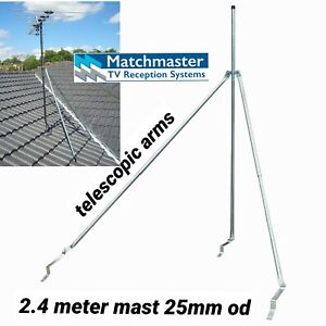tv antenna roof mount tripod tile or tin heavy duty dtv HD +2.4 m Pole quality.