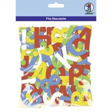 URSUS Buchstaben Filz 150 Stück/5 Farben selbstklebend