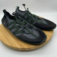 Northside Mens Round Toe Waterproof Black Gray Boating Shoes Size US 12
