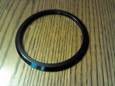 "Black Aluminum Gauge Bezel 3 3/4"" ID 4 1/2"" OD NOS Boat Hot Rod Speedo"