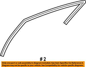 CHRYSLER OEM Pacifica Front Door-Window Run Track Weatherstrip Left 4894317AD