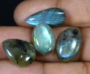 37.55 Cts Wholesale Lot Loose Gemstones 100% Natural Labradorite 4 Pcs AT01-60