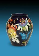 Moorcroft Butterfly Tropical Flower Vase Commission Design Trial RRP £1500 Mint