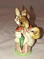 "BEATRIX POTTER Figurine MRS. RABBIT - UMBRELLA IN - 4"" Bp 3 A/B Rare gold ink 's"