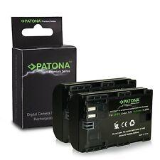 X2 batterie per canon eos 6d canon eos 60d canon eos 60da premium patona 2000mah