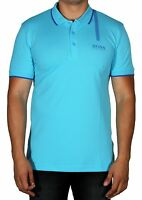 Hugo BOSS Paule Pro Men's Polo Short Sleeve Shirt Slim Blue 50369175 497 NWT