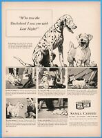 1939 Sanka Coffee Dalmatian Westie Dachshund Keith Ward Dog Art Kitchen Décor Ad