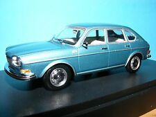 VW 411 1968  in Met Aqua Blue  VW Historic model  MINICHAMP RARE  1:43 NLA