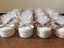 Personalised Candle Tealight Wedding Favours in silver (Set of 50)