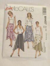 McCalls Sewing Pattern Wrap Skirts 12-18 4457 B&W No Notions UNCUT