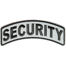 Embroidered Security Rocker Black & Grey Sew or Iron on Patch Biker Patch
