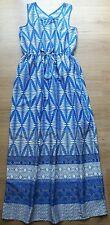 ❤ dimensión joven 11-12 años de edad sensación de Seda Azul/Blanco Vestido Maxi Bnwt Primark ❤