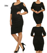 D84 New Ladies Black Size 14/16 Club Cut Out Evening Plus Summer Beach Day Dress