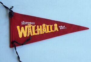 VINTAGE WALHALLA VICTORIA AUSTRALIA SOUVENIR PENNANT FELT CLOTH WALL FLAG