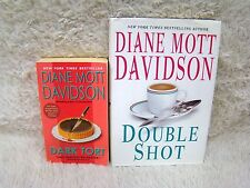 Lot of 2 Diane Mott Davidson Bks, 1 Paperbk/1 Hardbk, Dark Tort and Double Shot