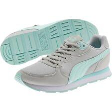 PUMA Ladies' Vista C Retro Runner Sneakers, Grey/Mint, 7 - NEW