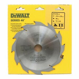 Dewalt DT1448 Series 40 215mm x 30mm 12T TCT Circular Saw Blade Rip Cut Wood 216