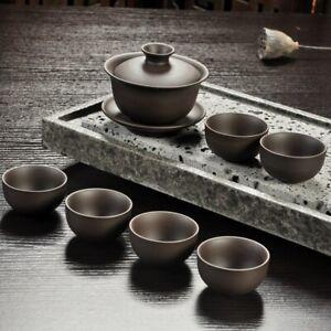 Handmade Drinkware Purple Sand Teapot Tea Set Ceramic Teapot Cup China Kung Fu