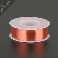 Magnet Wire, Enameled Copper, Red, 42 AWG (gauge), 155C, ~1/4 lb, 12250 ft SPN
