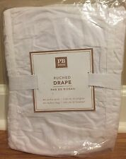 """NEW Pottery Barn Teen Ruched 44"""" x 63"""" Drape WHITE"""