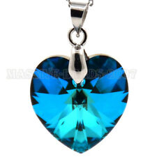 925 Sterling Silver Heart Pendant Earrings Crafted With SWAROVSKI Crystal