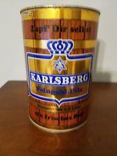 New listing Vintage Karlsberg Feingold Pils Germany 3.8L Flat Top Gallon Steel Beer Can Keg