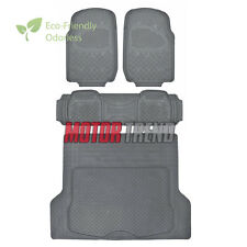 4pc Rubber Floor Mats Set in Gray - Non Toxic - Superior Quality MOTORTREND